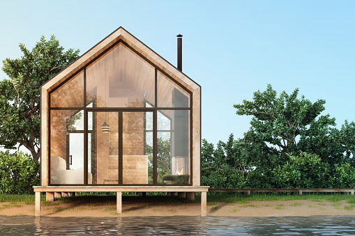 A Small Minimalist Modern House In Scandinavian Style With ...