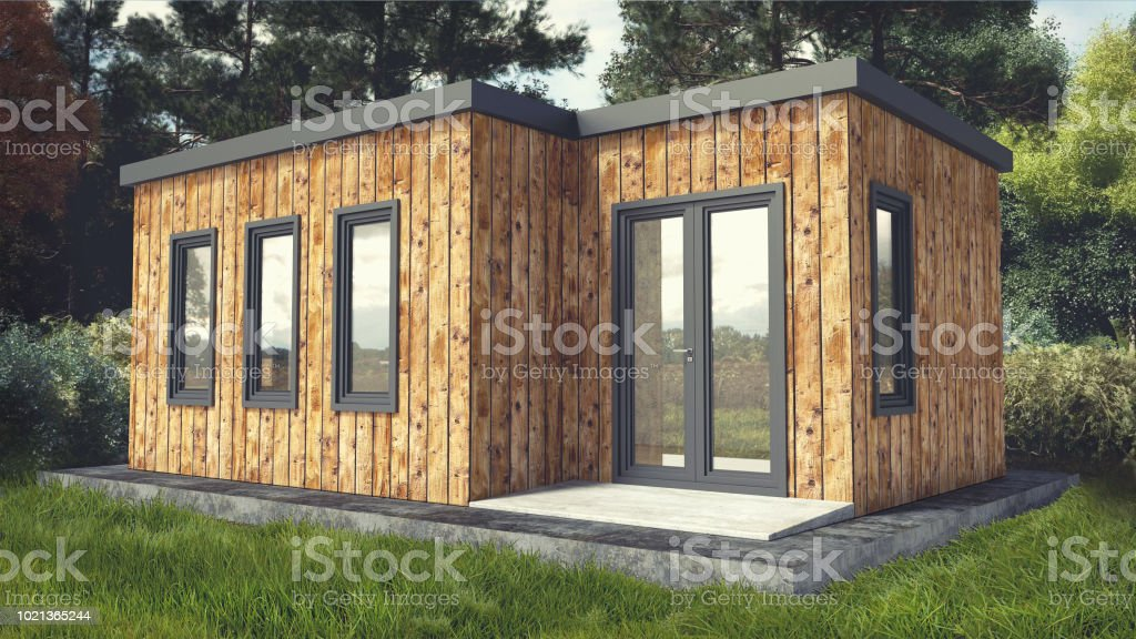 Small Modern Wooden House Exterior Stock Photo Download Image Now Istock