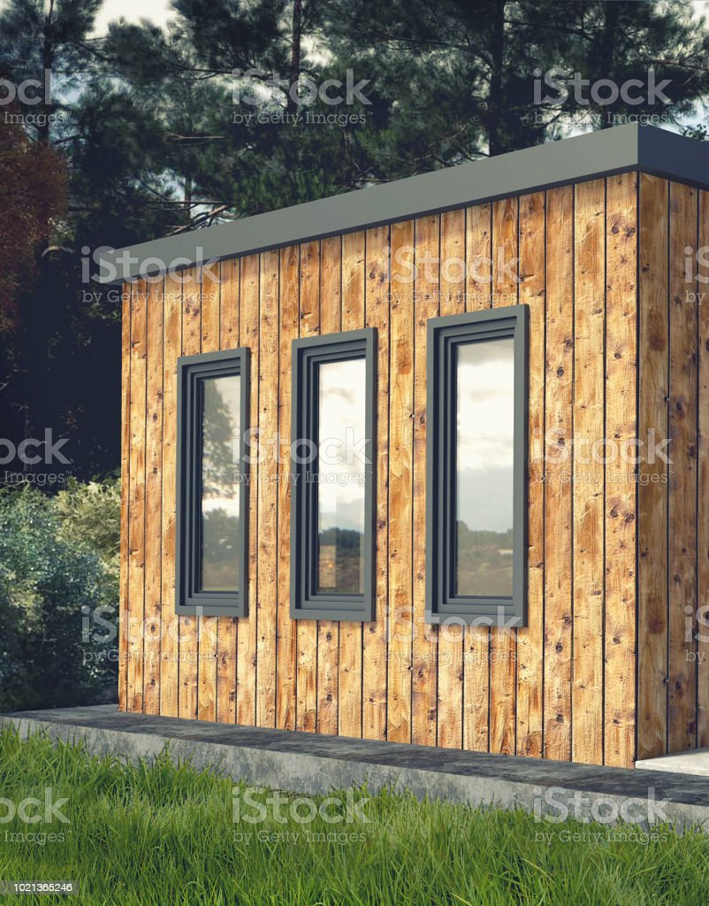 Picture of: Small Modern Wooden House Exterior Stock Photo Download Image Now Istock