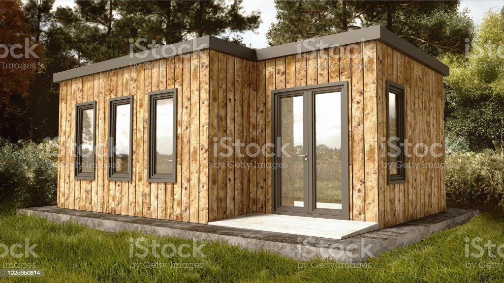 Kleine Moderne Holzhaus Aussen Stock Fotografie Und Mehr Bilder Von