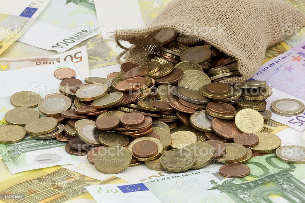 small money bag stock photo