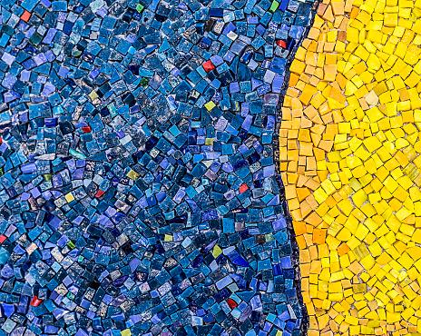 Small mosaic tiles close up pattern