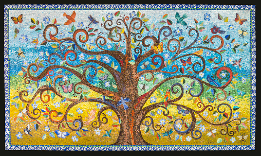 Mosaic artwork made by a mosaic artist