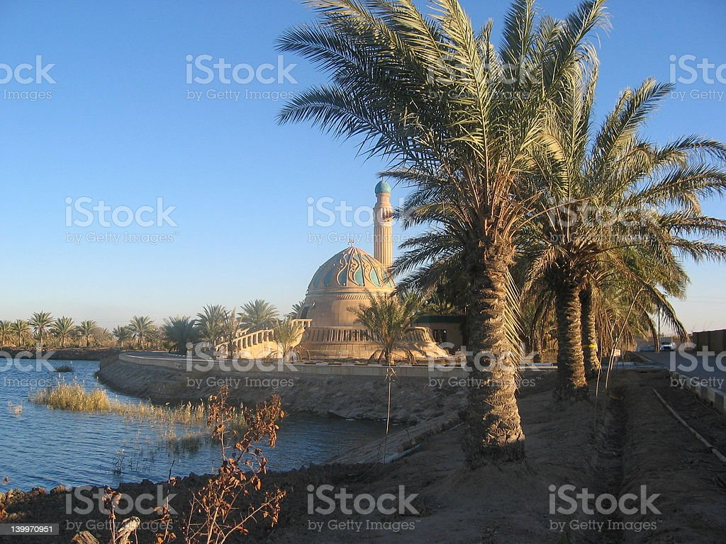 Small mosque in Iraq royalty-free stock photo