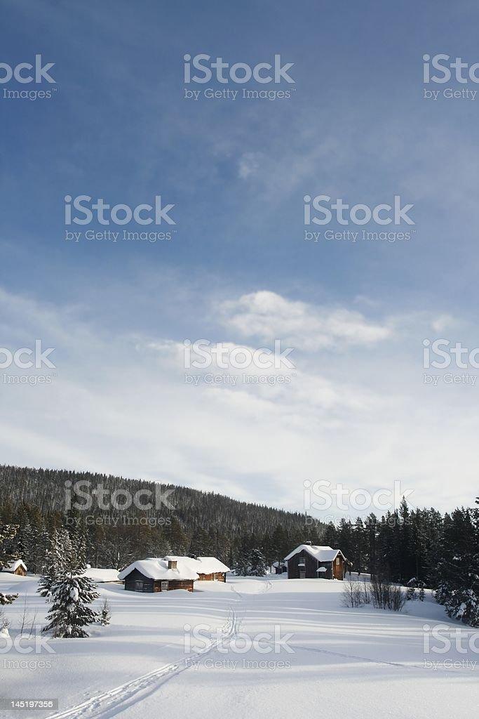 Small mountain hamlet stock photo