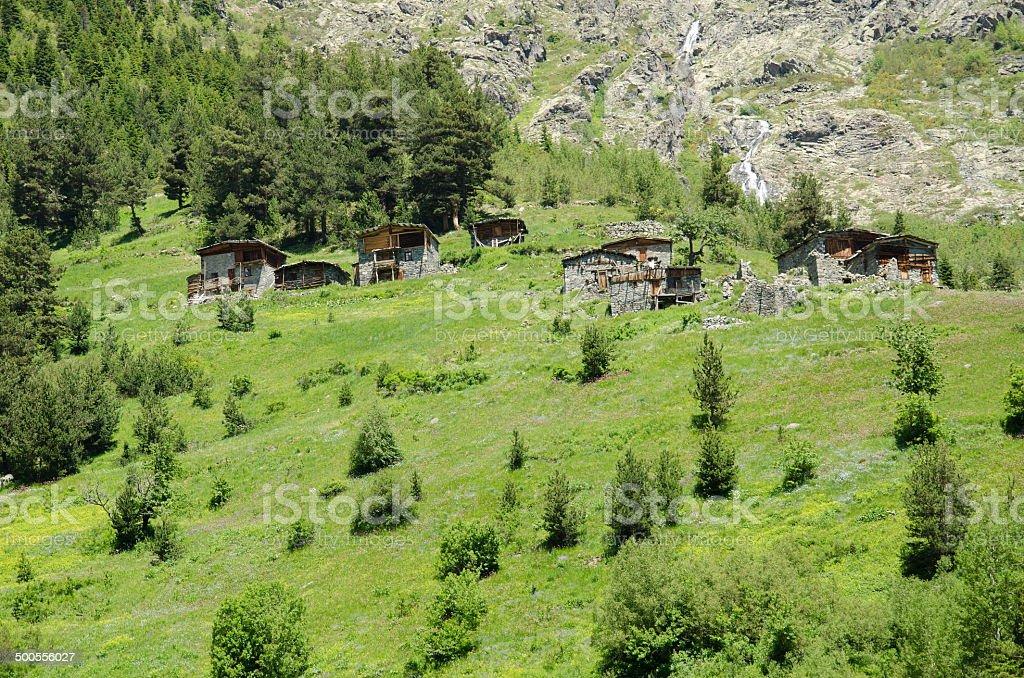 Small mountain houses royalty-free stock photo