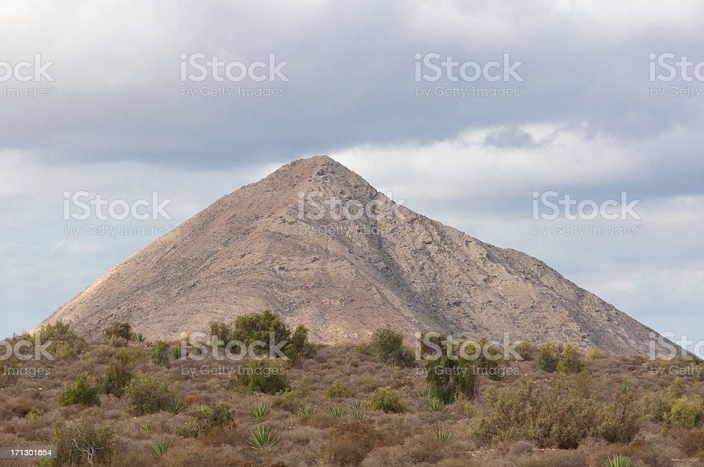 Small mountain in Fuerteventura (Canary Island) royalty-free stock photo