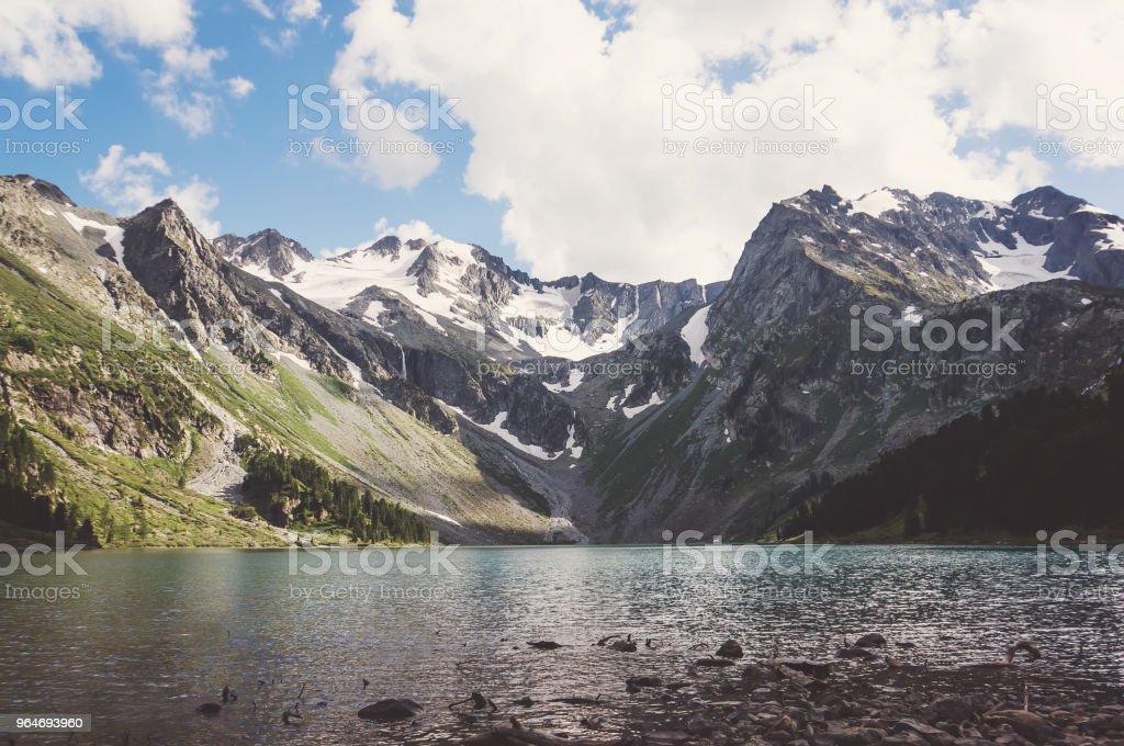 Small mountain lake in Ural mountains royalty-free stock photo