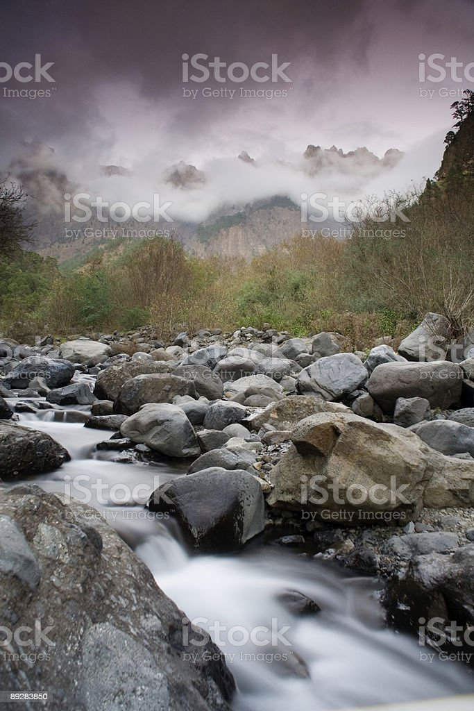 Small Mountain river royalty-free stock photo