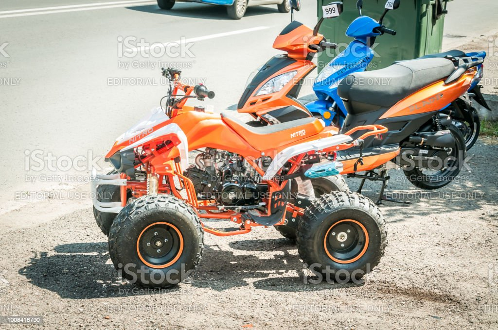 Small New All Terrain Vehicle Atv Quad And Scooter