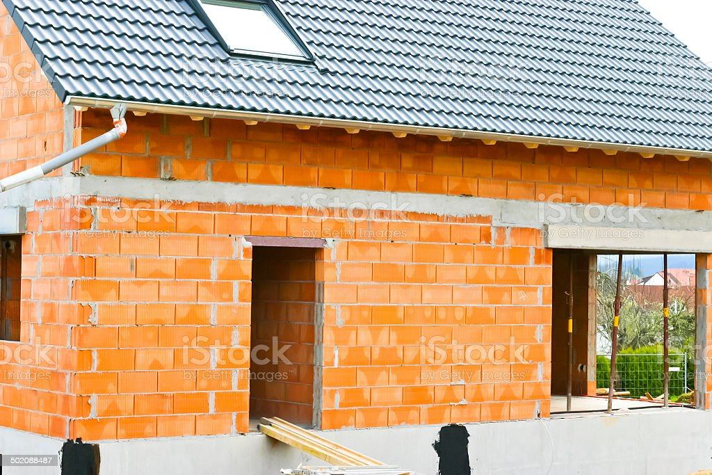 Small New Home stock photo