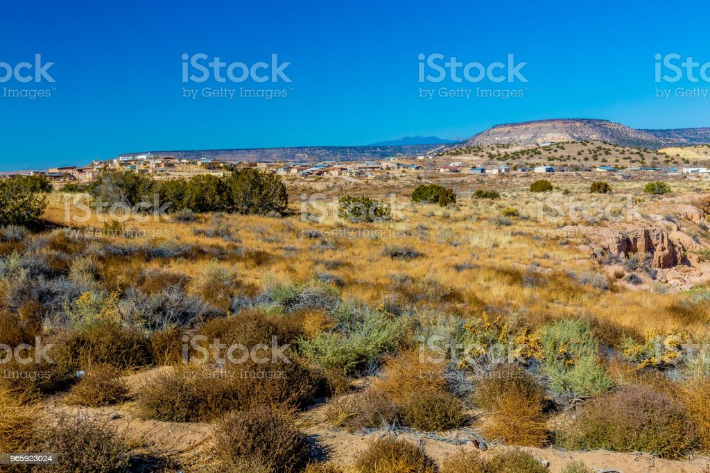 Een nieuwe Mexico dorp - Royalty-free Berg Stockfoto