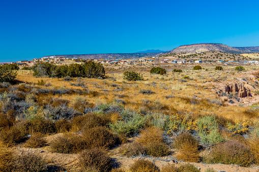 Een Nieuwe Mexico Dorp Stockfoto en meer beelden van Berg
