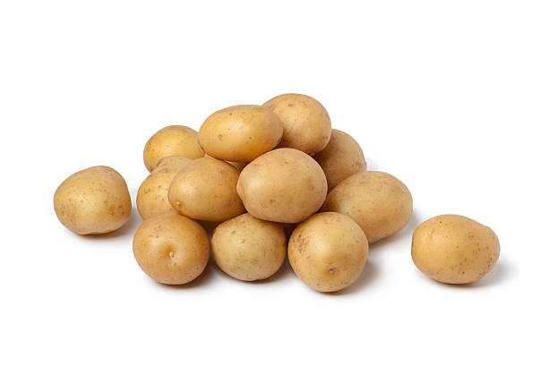 Small new potatoes stock photo