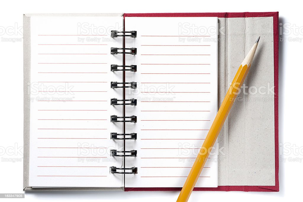 Small notebook of paper and a pencil royalty-free stock photo