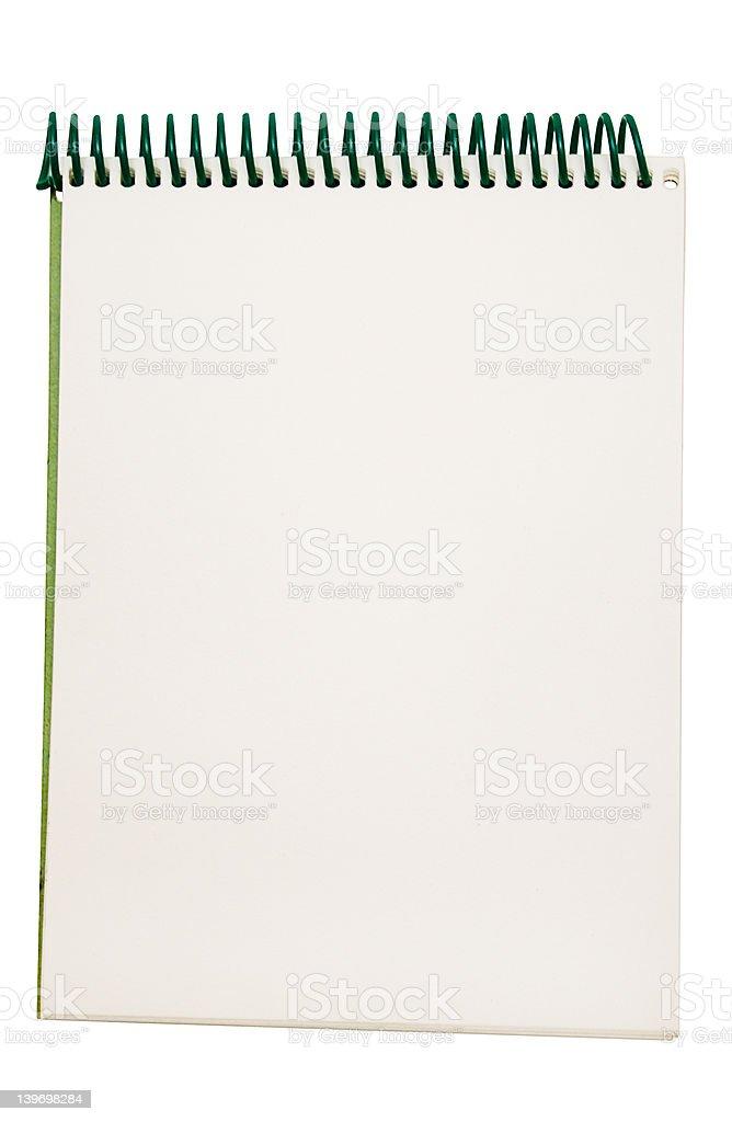 Small Notepad w/ Path royalty-free stock photo