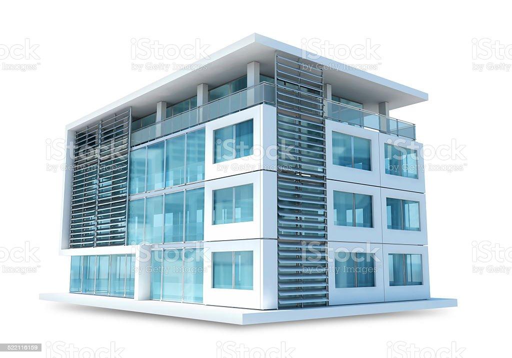 Petits immeuble de bureaux sur fond blanc u photos et plus d
