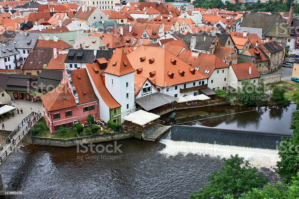 Small old town not far from Prague. Czech Republic. royalty-free stock photo