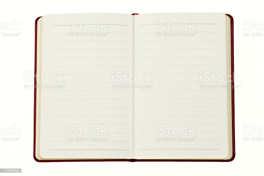 Small open lined notbook or diary royalty-free stock photo