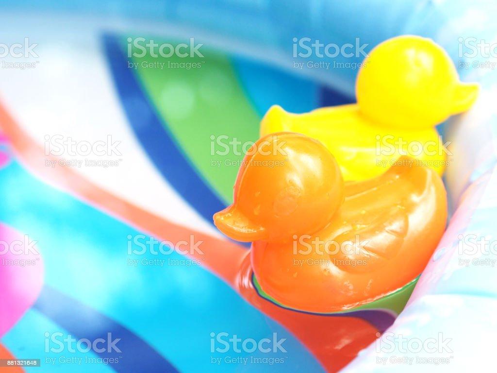 Juguetes De Pequeño Pato De Plástico Naranja Y Amarillo Flotando En El Agua Foto De Stock Y Más Banco De Imágenes De Agua Istock