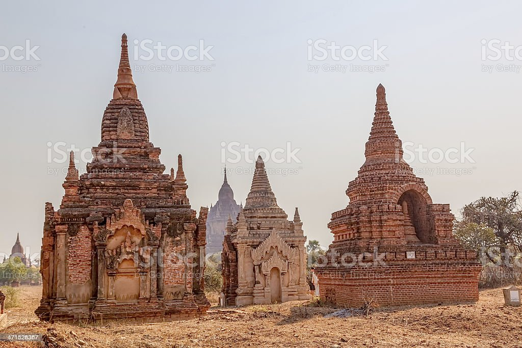 Small pagodas in Bagan royalty-free stock photo