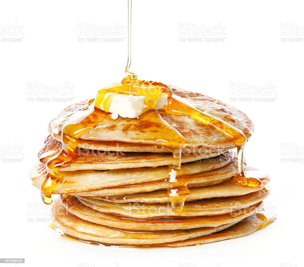 Small pancakes stock photo