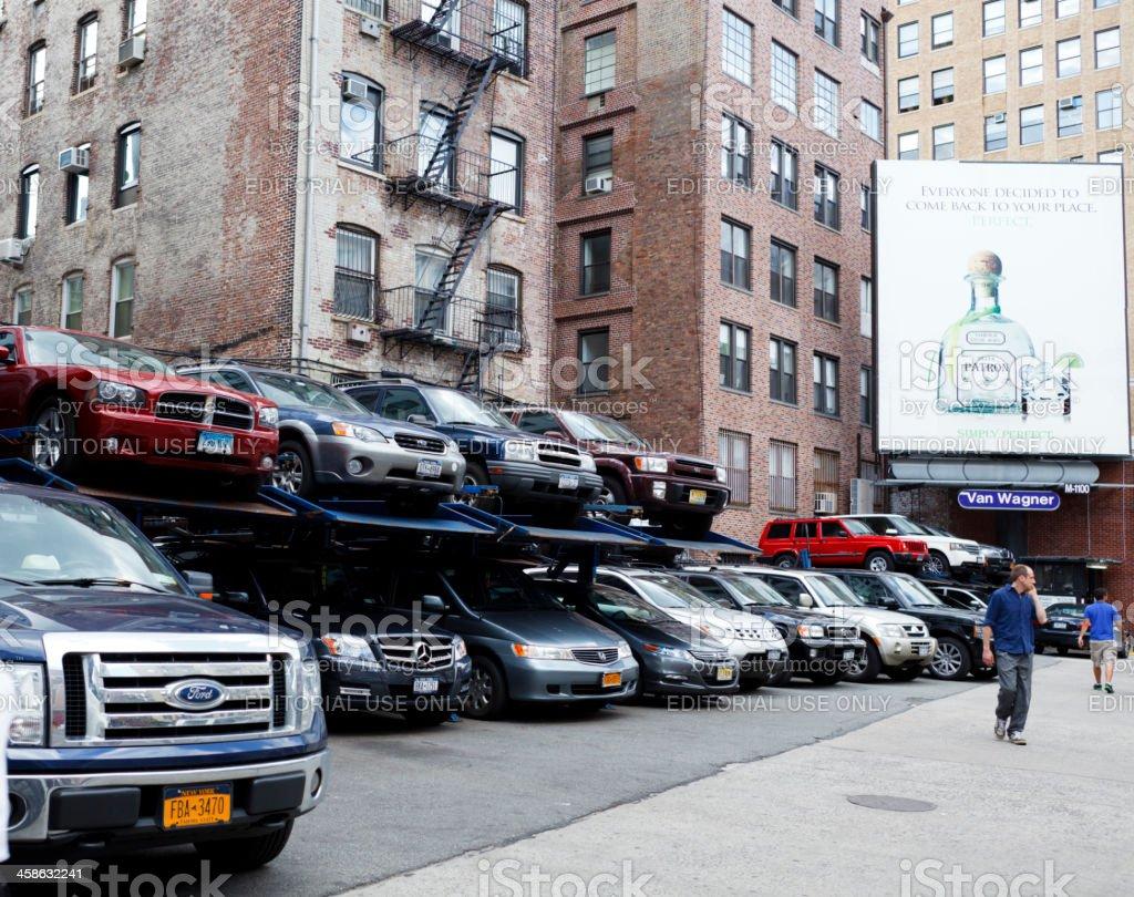 Small Parking Lot Manhattan royalty-free stock photo