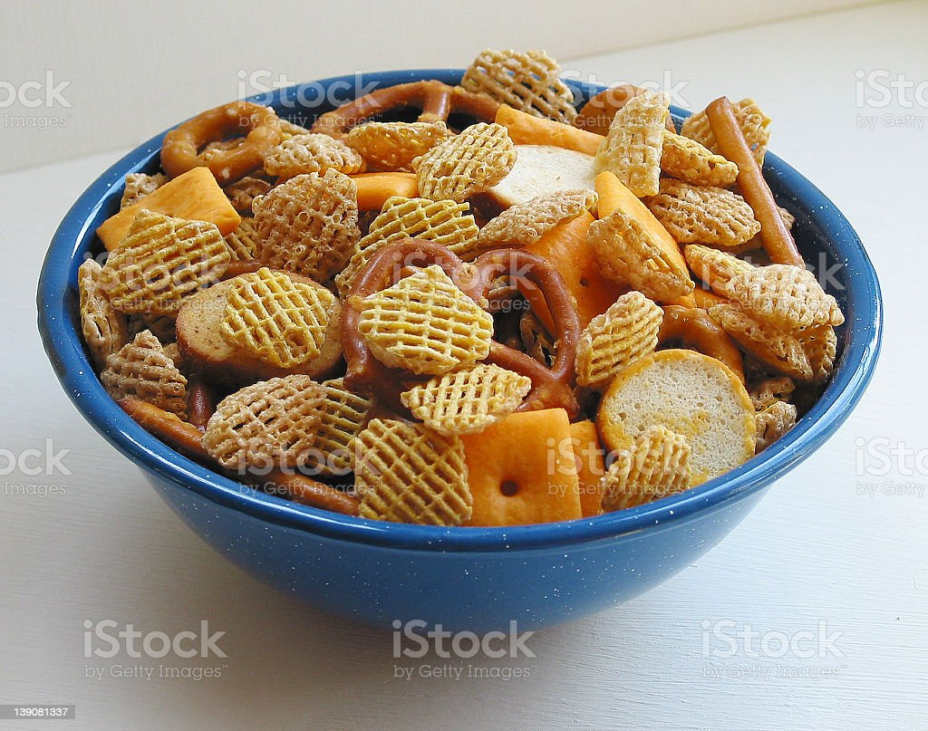 Small Party Mix Snack Bowl royalty-free stock photo