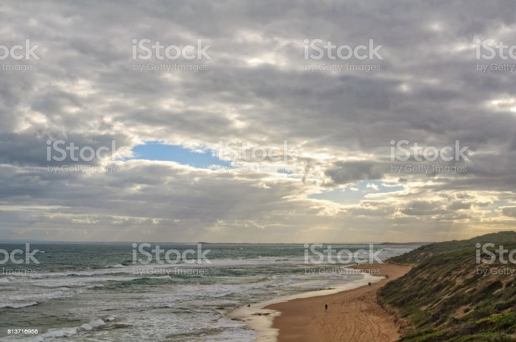 Small patch of blue sky - Point Lonsdale stock photo