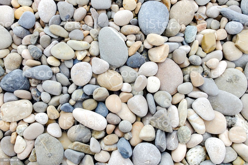 Small pebble rocks, pattern with gray tones stock photo