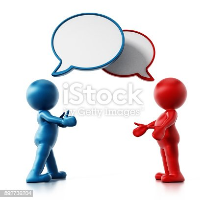 812513444 istock photo 3D small people with speech balloons 892736204