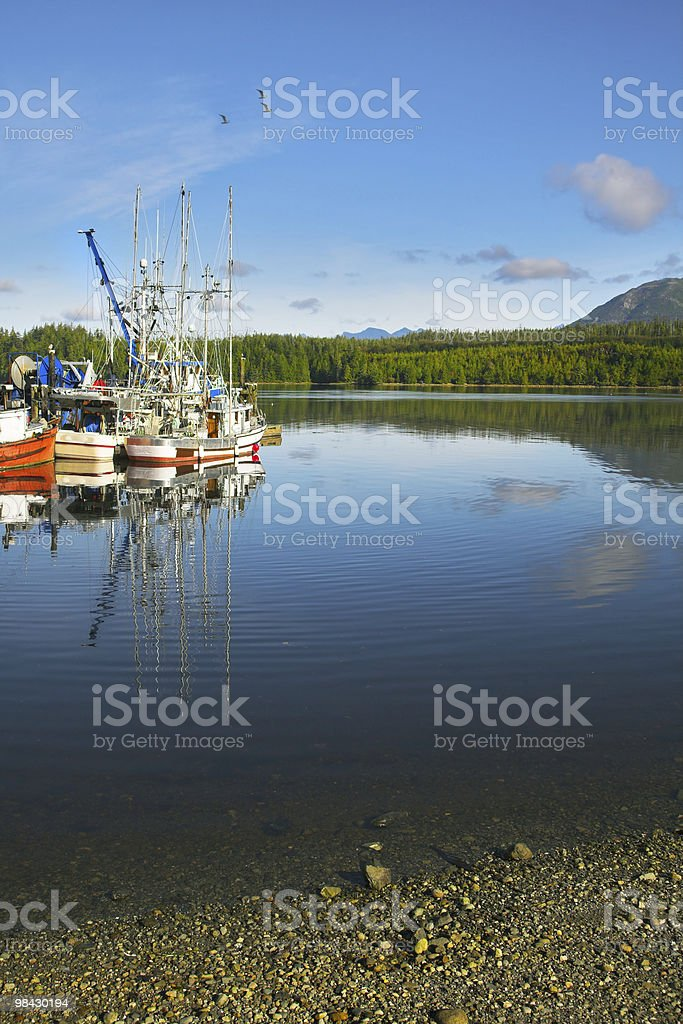 Small picturesque seaport royalty-free stock photo