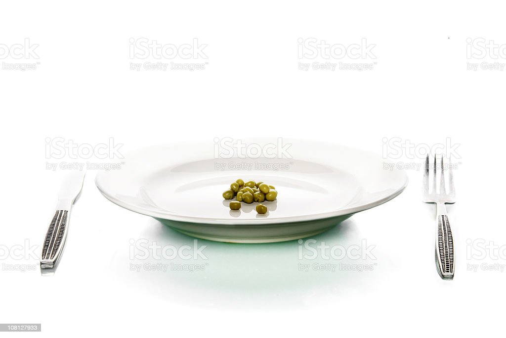 Small Pile of Peas on Plate royalty-free stock photo