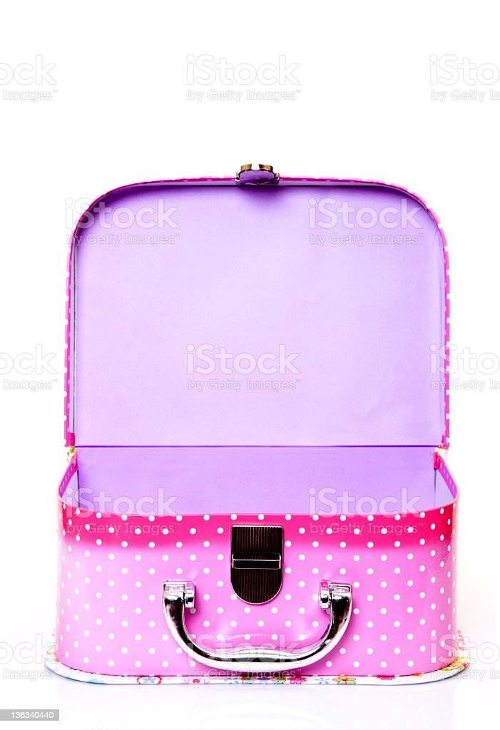 small pink valise royalty-free stock photo