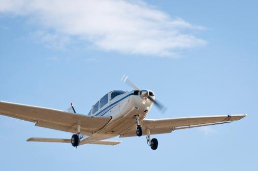 Small plane landing
