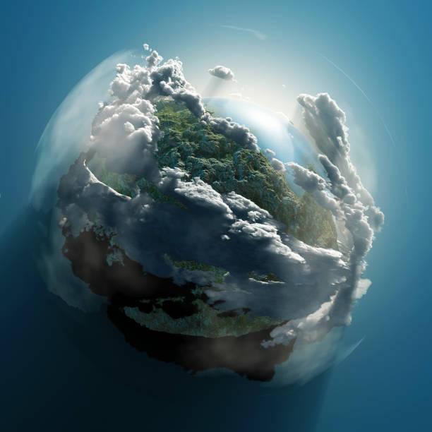 bulutlar küçük gezegen - mountain top stok fotoğraflar ve resimler