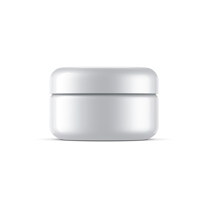 Small Plastic Jar Mockup for cosmetic, cream package. 3d rendering