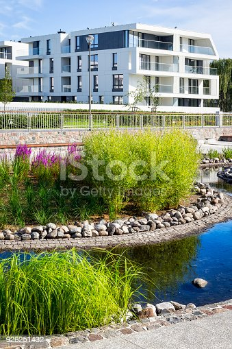 889473004 istock photo Small pond in the city park and apartment buildings in background, Sopot, Poland 926251432