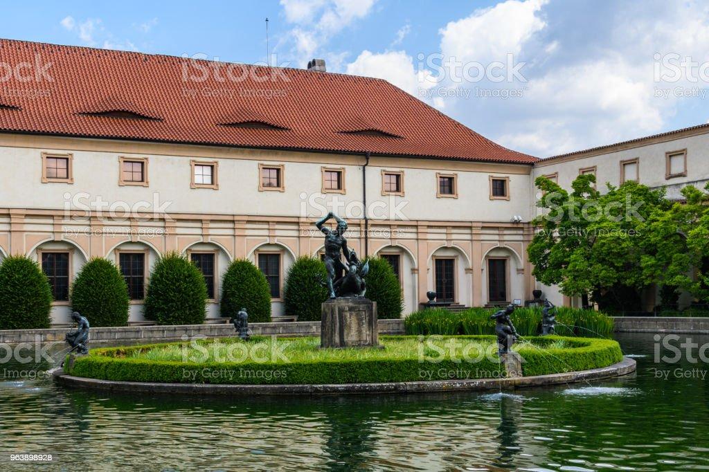 Small pond in Wallenstein Garden in  Prague, Czech Republic - Royalty-free Architecture Stock Photo