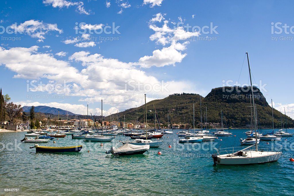 Small port on Lake Garda royalty-free stock photo