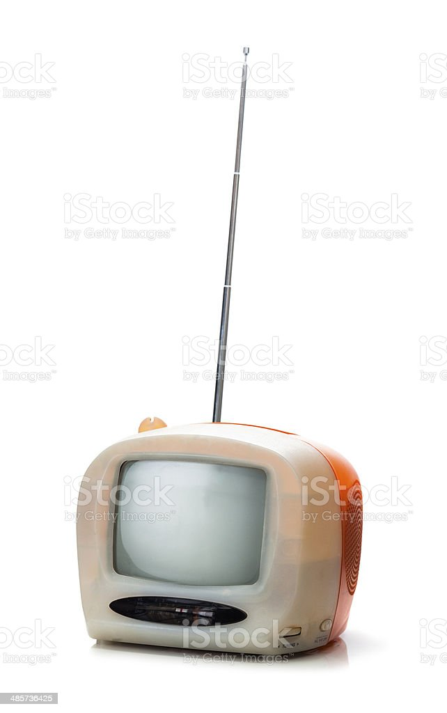 Small Portable Television From The 1980s Stock Photo