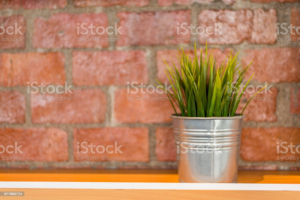 Small pot for decoration royalty-free stock photo