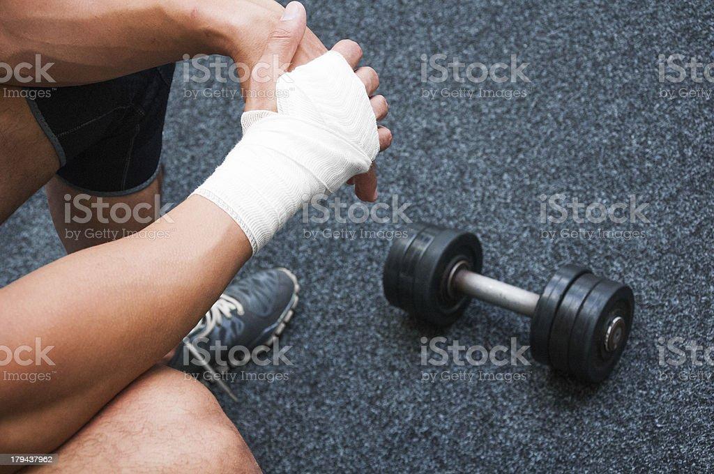 Small price to bodybuilding stock photo
