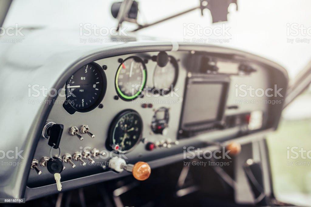 Small private airplane. stock photo