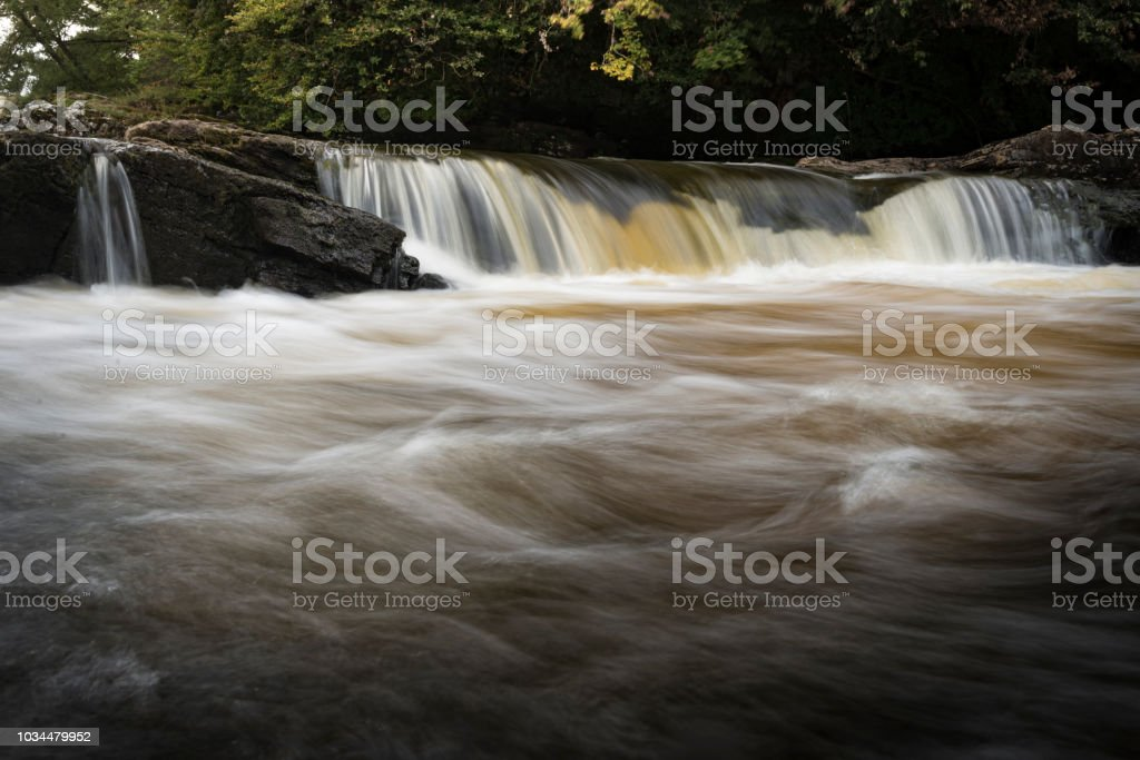 Small Rapids in the Highlands of Scotland stock photo