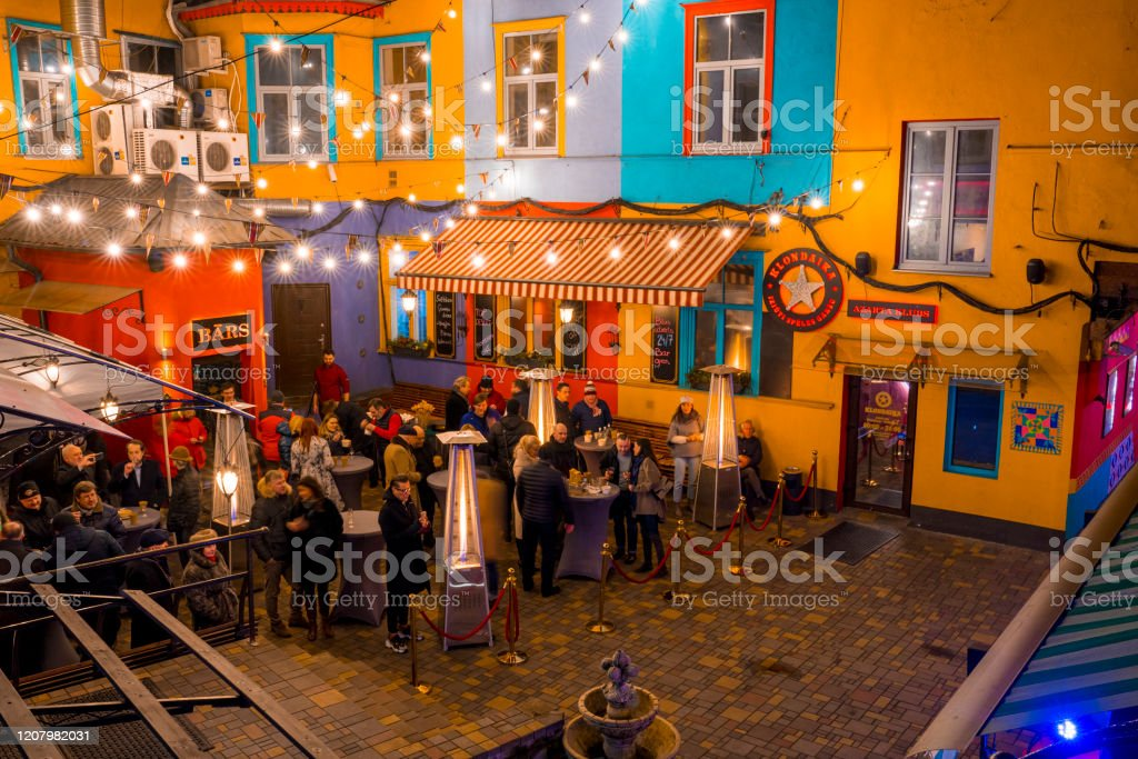 A Small Restaurant And Bar In A Cosy Street In Mexico Stock Photo Download Image Now Istock