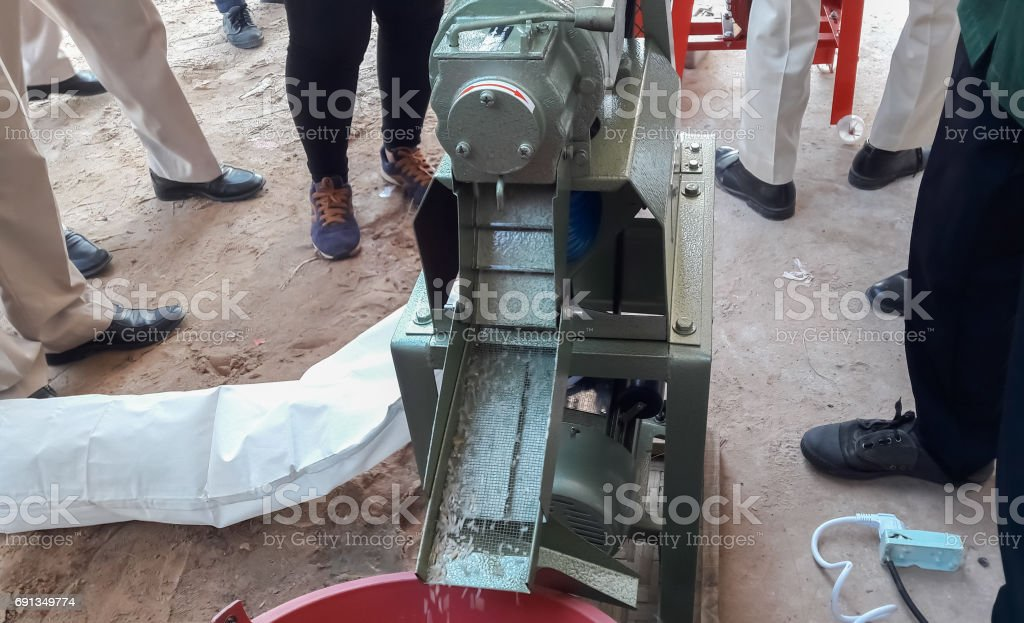 small rice mills. stock photo
