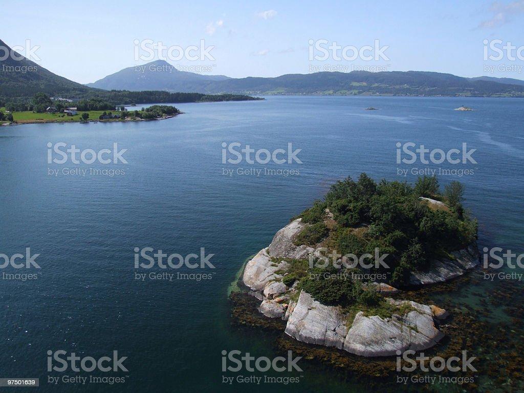 Small rocky island royalty-free stock photo