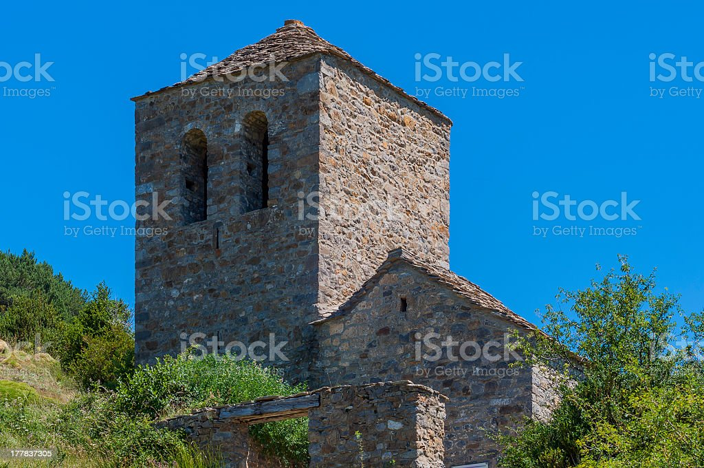 Small Romanesque Church royalty-free stock photo