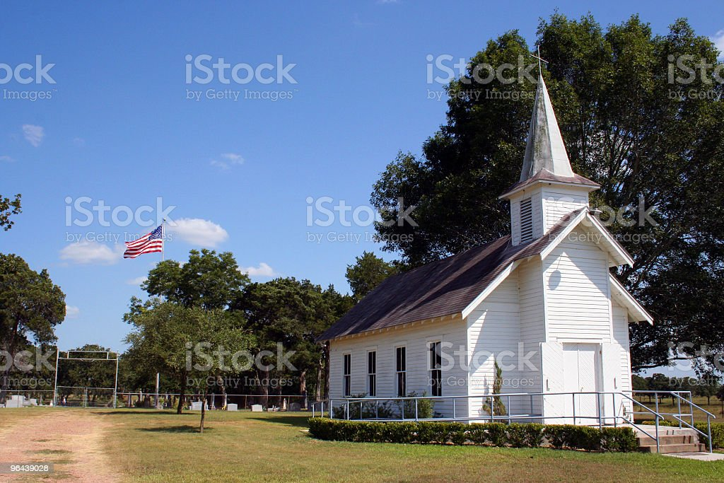Small Rural Church in Texas stock photo